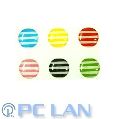 6 PCS Stripe Pattern Home Button Sticker for iPhone 3G/3S/4/4S