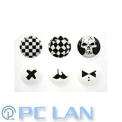 6 PCS Black and White Home Button Sticker for iPhone New iPad 1234 + Bonus Set