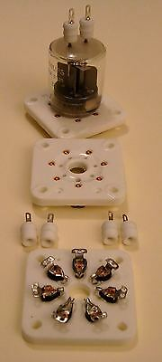 LOT DE 2 SUPPORTS SEPTAL + 4 PLUGS POUR QQE03/20 , 6C33 , etc...