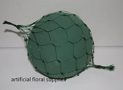 12cm NETTED SPHERE 2 or 5 wet Foam Balls Oasis wedding topiary & hanging pomanda