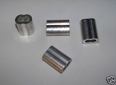 "1/4"" Aluminum Cable Crimps/Sleeves (LOT OF 100) NEW"