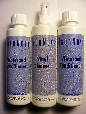Waterbed 2 Large Bottles of Conditioner 1 Cleaner Fluid - FREE POSTAGE