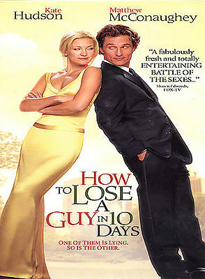 How to Lose a Guy in 10 Days DVD 2003 Widescreen Movie Kate Hudson McConaughey