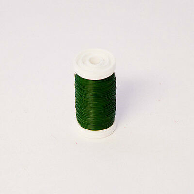 26g 28g 30g - Roll of Green Reel Wire - Lacquered Florist Floral Crafts