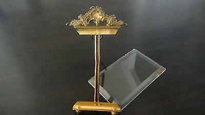 Rare ! Antique French Dore Ormolu Crystal Glass Frame Gilt Bronze Mantel Hanging