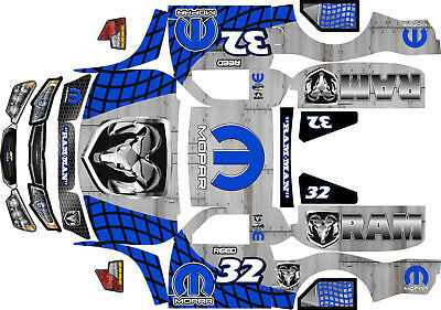 Losi 5ive T Mopar  Motorsports Theme  body wrap decals stickers  BIG FLEX ROVAN