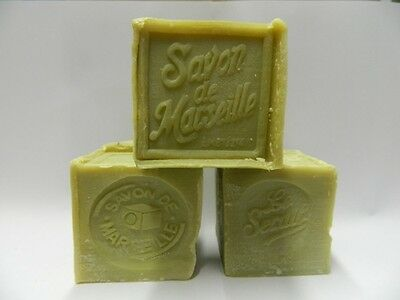 Lot 5 Savons de Marseille Cube 300Gr Olive authentique