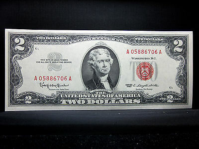 1963 $2 United States Note ✪ Ch-Cu Uncirculated ✪ Unc New Us A Gem ◢Trusted◣