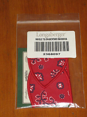 Longaberger Summertime Backyard Bandanna Small Basket Handle Tie Nib Usa