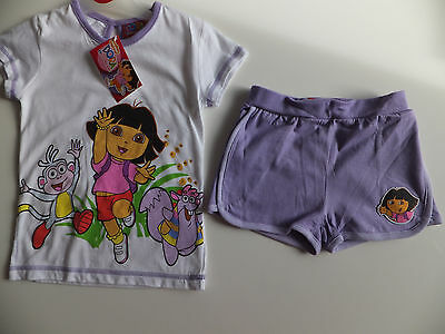BNWT DORA 2PC T-SHIRT/ TOP & SHORTS SET OUTFIT- SUPERB QUALITY Size 2 - 6 Years