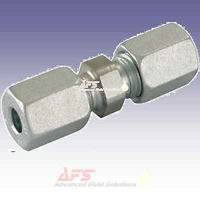 Hydraulic Straight Metric Tube Equal Compression Fitting Coupling Pipe Joiner G