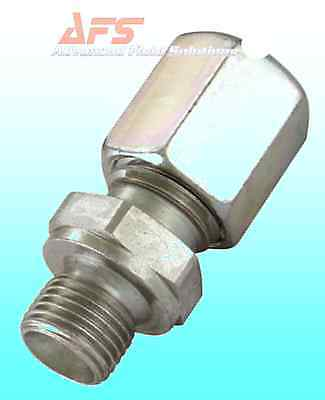Hydraulic Straight Metric Tube x Male BSP Compression Pipe Fitting Coupling (GE)