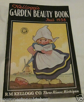 Kellogg's Garden Beauty Book Fall 1938 with Order Blank  Flowers