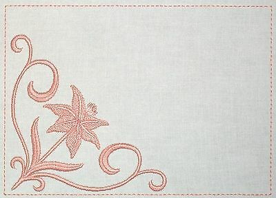 Blooming Lily Embroidered Quilt Label Customize for quilt tops or blocks