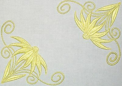 Coneflower Embroidered Quilt Label Customize for quilt tops or blocks