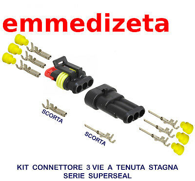 M150/3 connettore stagno superseal 3 vie (tipo metripack)  +