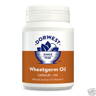 Dorwest Wheatgerm Oil Capsules 100c, 200c, or 500c for Dogs & Cats