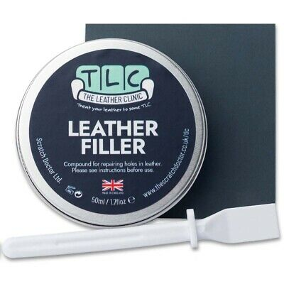 Leather Repair Filler Compound. For leather restoration, cracks, burns & holes,