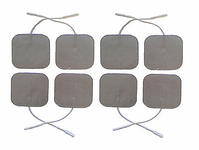 Premium Silver Tens Electrodes Pads 8 Square Highly Adhesive Tens Pads