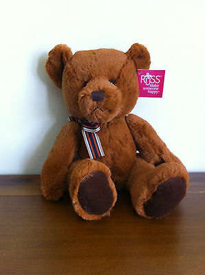 RUSS Soft Plush Teddy Bear Stuffed Toy Copper Brown Named Westin Large