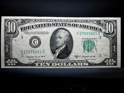 1950 $10 Federal Reserve Note ✪ Gem Uncirculated ✪ Cu Unc New L@@k Now◢Trusted◣