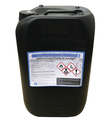 Black Bitumen Paint Waterproof Weather Protect Steel Concrete Stone 25L Pro-Chem