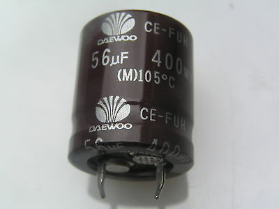 Daewoo FUH Electrolytic Capacitor 56uf 400v 105'C 2000 Hours 2 pieces OL0177
