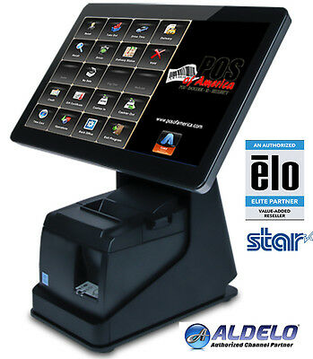 Bematech Logic Controls All-In-One System MSR 2GB Restaurant Bar POS with ALDELO