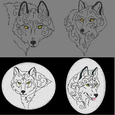 Mystical Wolves - 60 Machine Embroidery Designs (Azeb)