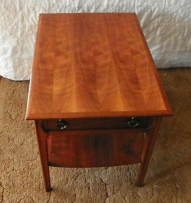 WALNUT MERSMAN End Table Side Table with Drawer RP T251