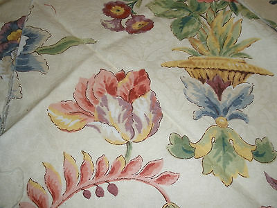 3 Pieces of Colorful Floral Fabric upholstery flower red blue yellow purple