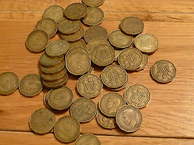 1937 to 1952 George VI Brass Threepence Coin x 1 Pre Decimal Various Coins