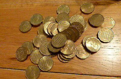 1953 to 1967 Elizabeth II Brass Threepence coin x 1, predecimal various coins