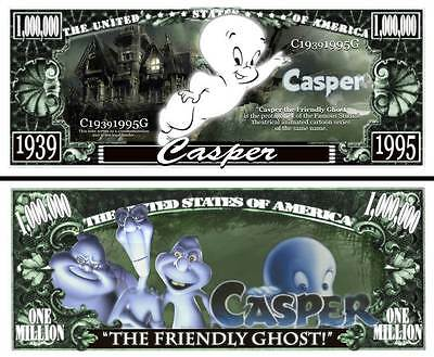 CASPER le FANTOME ! BILLET 1 MILLION DOLLAR US ! Collection Dessin Animé Gentil