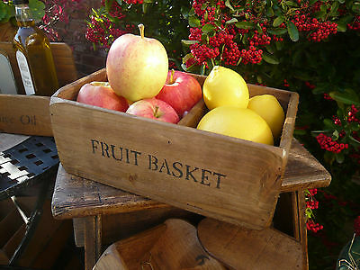 (NEW) Old Country Farmhouse FRUIT BASKET/BOWL~Rustic~Small Medium Large~Wooden