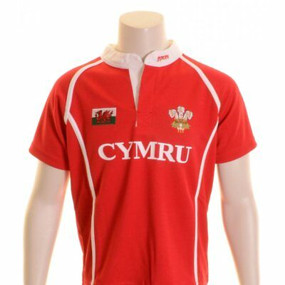 Manav Junior Wales Rugby Shirt Red and White