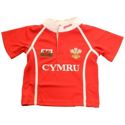 Manav Infant Wales Rugby Shirt Red and White