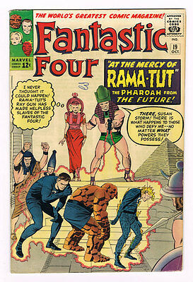 Fantastic Four # 19  At the mercy of Rama-Tut !  grade 5.5 scarce book !