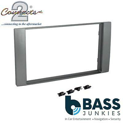 Ford Focus C-Max 2005 On Car Stereo Silver Double Din Fascia Panel CT24FD21