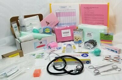 Whelping Kit for Dogs, DELUXE 4 puppies - by Little Heartbeats Whelping Breeding