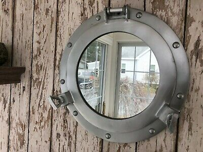 "12"" Porthole Mirror ~ Nautical Maritime Decor ~ Ship Port Hole"