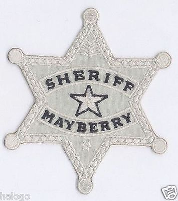 Andy Griffith Mayberry Sheriff Badge Patch  - May09