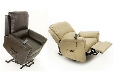 Clifton  dual motor Leather electric rise and recliner mobility chair