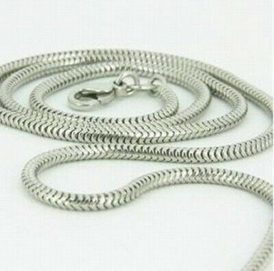 """Wholesale 5pc Solid Silver Jewelry Snake Chain Woman Men Necklace 2MM16""""24"""" C010"""