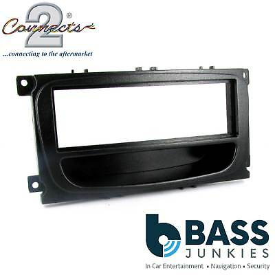 CT24FD16 FORD MONDEO MK4 2007 to 2014 SILVER SINGLE DIN FASCIA ADAPTER PANEL