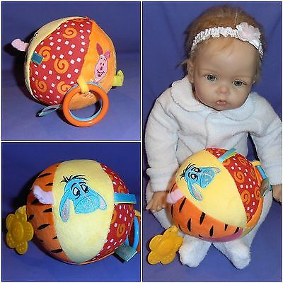 Baby Ball ~ Winnie ~ Eeyore & Piglet ~ With Bell & Teethers ~ Free Post ~ New