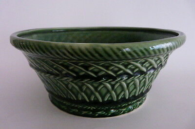 VINTAGE HULL GREEN CERAMIC PLANTER #117 USA