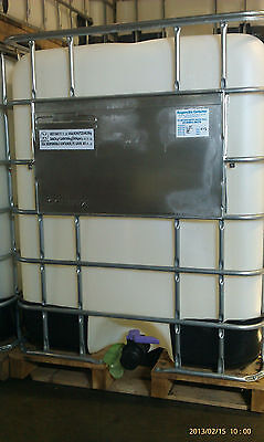 Ibc Tote Tank Professionally Reconditioned 330 Gallon  With Wood Base