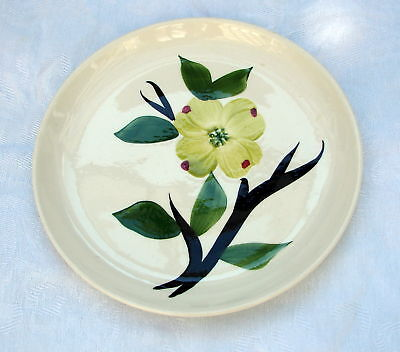 "1 DIXIE DOGWOOD BREAD PLATE JONI STETSON POTTERY 6"" HAND PAINTED DESSERT / BREAD"