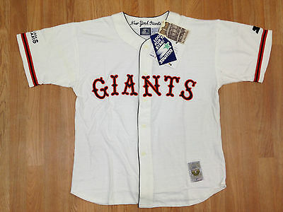 Vintage Deadstock NWT New York Giants Starter Cooperstown MLB Old Timers Jersey